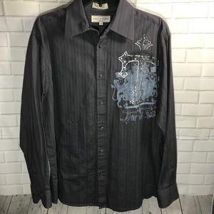 Men's long sleeve button down dress shirt M